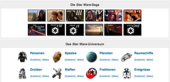 Jedipedia Inhalt Überblick
