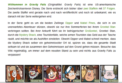 Gravity Falls Wiki Hauptseite