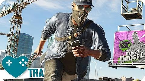 WATCH DOGS 2 Story Trailer German Deutsch (2016) PS4, Xbox One, PC Game