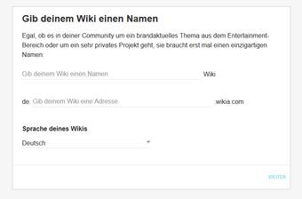 Wiki-Start-Formular
