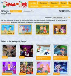 Phineas und Ferb Songs