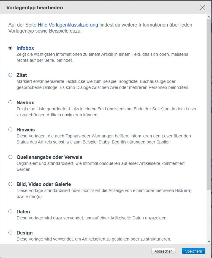 Hilfe:Vorlagenklassifizierung | Community Deutschland | FANDOM ...