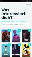 FANDOM-App Fandoms abonnieren