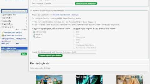 Bearbeite Benutzerrechte in Wikia