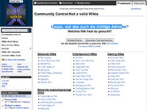 Not a valid Wikia-de