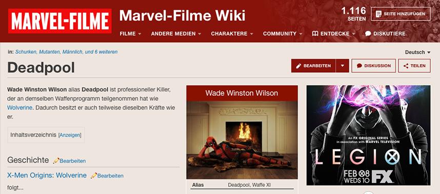 Slider Wiki-Modernisierung Schritt zwei Kopfbereich der Seite und des Artikels