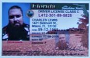 Charlie Lewis driver license