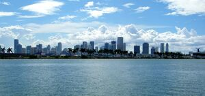 Skyline from biscayne bay