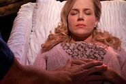 Rita in her casket
