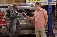 Brother Sam repairs Dexter's car