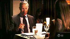 Matthews and Deb at dinner