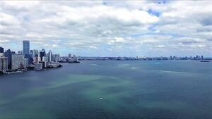 Biscayne Bay, Miami skyline