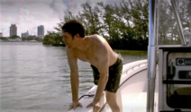 Dexter boards his boat