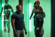 David Ramsey and Stephen Amell, stars of Arrow