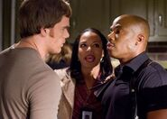Dexter and Doakes bicker