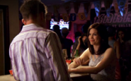Clarissa and Joey in bar
