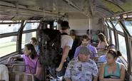 Joe Jensen on bus