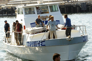 Dexter on police boat