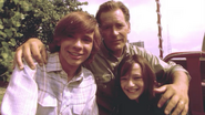 Dexter with Harry and Debra