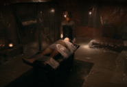 Dexter takes blood from Jimenez