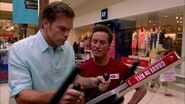 Dexter stalks Ron Galuzzo at the mall