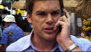 Debra tells Dexter that Brother Sam was shot