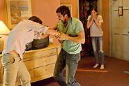 Dexter stabs Andrew Briggs