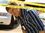 Dexter at Ice Truck Killer crime scene