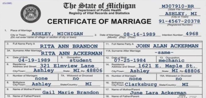 Marriage Certificate In Michigan - Best Design Sertificate 2018