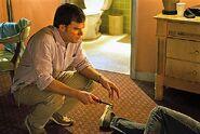 Dexter kills Andrew Briggs in Debra's presence