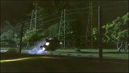Dexter rolls his car