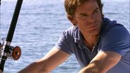 Dexter on his boat, Slice of Life