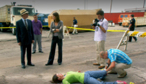 Lundy at Tarla's crime scene 8