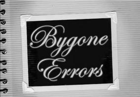 Bygone errors