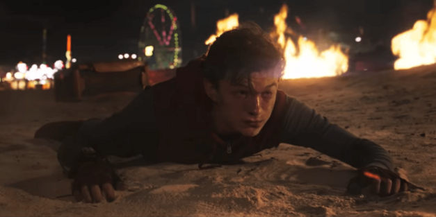 Peter on Coney Island in Spider-Man: Homecoming
