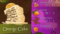 Tinkerbell adveture orange cake