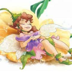 Prilla in a fairy pillow