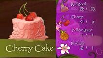 Tinkerbell adveture cherry cake