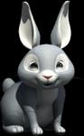Baby bunny thumb