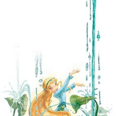 Rani making music with water