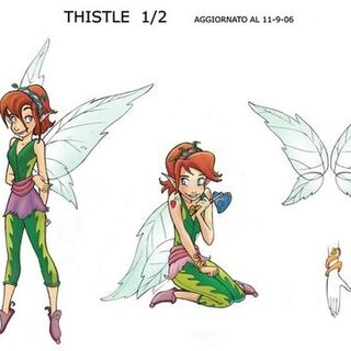 Thistle Character Sheet for the comic by Caterina Giorgetti