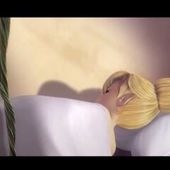Tinkerbell sleeping.