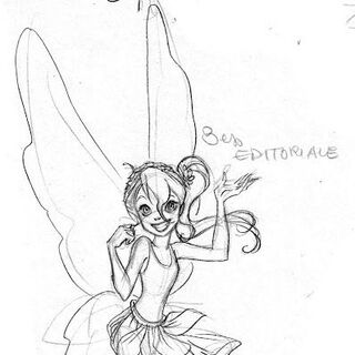 official sketch by Daniela Vetro for the Disney Fairies Magazine