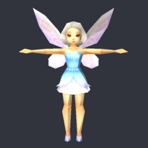 Tinker Bell (DS Game) - Low Poly Model - Qana 1