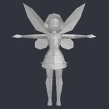 Tinker Bell (DS Game) - Low Poly Model - Qana 2