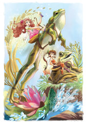 Rosetta-and-fawn-frog-riding