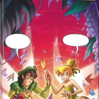 Tinker Bell to the Rescue page/cover by Elisabetta Melaranci