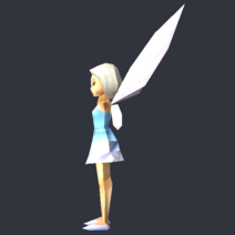 Tinker Bell (DS Game) - Low Poly Model - Qana 3