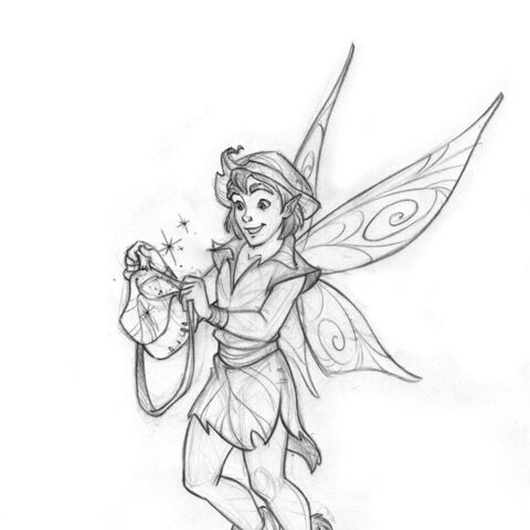 Welcome to Pixie Hollow (Book)- Official Sketch by Sara Storino