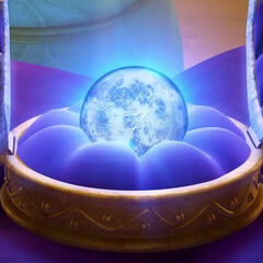 The moonstone in the open case